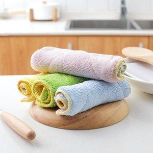 couleur double face serviette tissu absorbant sans Torchon d'huile Accueil cuisine tissu de nettoyage Pad 15 * Décapage 25cm FFA2706