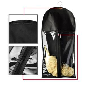 Traje peluca de pelo de la extensión del portador belleza del cabello bolsa a prueba de polvo Durable mujeres de la cremallera portátiles no tejido del bolso de la caja de la peluca Percha