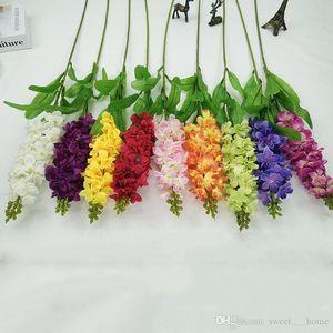 Hot Bouquet Artificial Plant Fake Orchid Silk Flower Home decoration Wedding Garden Decor Artificial flower free shipping M0D