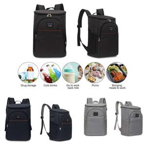 Büyük Öğle Sırt Çantası Yalıtımlı Termal Cooler Gıda İçecek Su geçirmez Açık Seyahat Piknik Çantası Buz Paketi Isı Koruma Torbaları Sırt çantası 18L