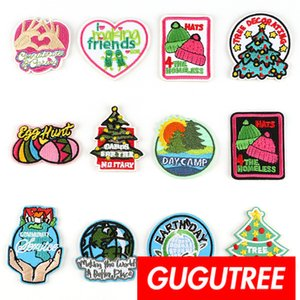 Parches de bordado autoadhesivo GUGUTREE parche de placa Aplique parche, camiseta, gorra, bolsos, suéter, mochila SP-274