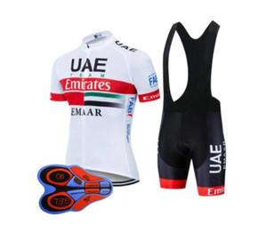 EAU équipe 2019 hommes maillot cyclisme VTT vêtements de vélo vélo chemise Cuissards costume été sport vêtements de course respirant de rrmall uniforme