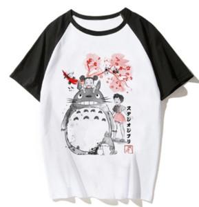 2019 Anime Japonês Totoro Camisa Dos Homens Estúdio Ghibli Miyazaki Hayao Anime Espírito Longe T Shirt Dos Homens Das Mulheres Roupas Dos Desenhos Animados Verão T-Shirt U1704