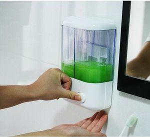 500ml 1000ml Şampuan Dispenserleri Basın Sıvı Sabunluk Plastik El Yıkama Sabunu Şişe Temizleyici Dağıtıcı Kutusu GGA3474-2 Duvara monte