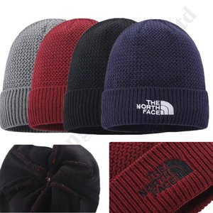 Designer- invernali Crochet The North Donna Uomo Fleece Beanie Gorro volto a maglia cappello trendy Wool Cap Outdoor Sports Sci Cap Copricapo
