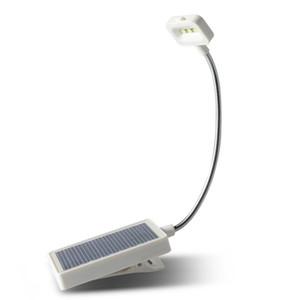 3 LED Солнечная / USB Зарядка Гибкая Зажим Прикроватная Чтение Книжных Огней Изучение Света Настольная Лампа