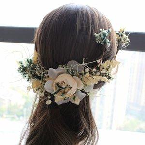 3шт набор невесты Свадебный головной убор Новый Сейн-серии цветок волос Pin Semme убора невест волос аксессуар