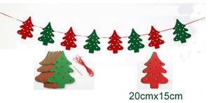 5 sets / lot festa de Natal Merry Christmas Garland Bunting bandeira decoração Prop