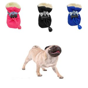 Pet Winter Warm Soft Cashmere Anti-skid Rain Shoes For Dog Pet Supplies 2018