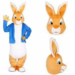 Peter Rabbit trajes de la mascota de Navidad unisex Buny Mascotas Traje disfraces para adultos traje completo de las partes Hallween Purim