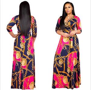 Hot Sale New Design de Moda Roupa Africano Tradicional Imprimir dashiki agradáveis Vestidos africanos do pescoço para as Mulheres