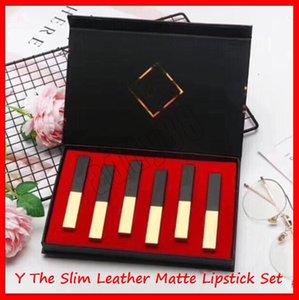 2019 Nova Lip Makeup Set Y Matte Lipstick Set The Slim couro de ouro pequenos bares Matte Lipstick Lip Gloss 6pcs / set