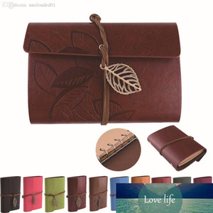 Leaf Pendant Faux Leather Cover NoteBook Travel Journal Sketchbook Bound Blank Diary