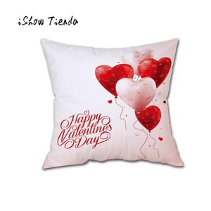 Funda de almohada Día Throw actual de Home Sweet Pilloe cubierta Happy Valentine amortiguador de la cubierta Sweet Love Square decorativo Dakimakura