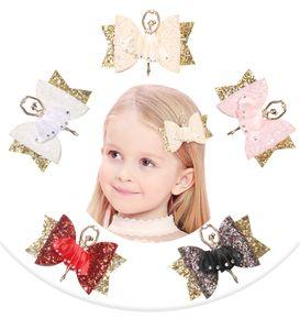 Baby Girls Brownette Kids Bokwnot Shinning Barlettes Детские балетные волосы Hairpins Hairpins Зажим для волос Аксессуар A356