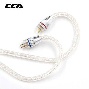 Ucuz Kulaklık Aksesuarları CCA Gümüş Kaplama Yükseltme 3.5 Mm Ses Kablosu 4 Core 2 Pim Orjinal Kulaklık Kablo Diy İçin Cca