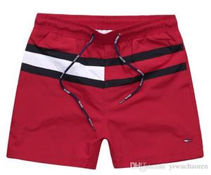 Оптовая Мужские шорты Повседневная Solid Color Board Shorts Men Summer стиль Пляж Бассейн шорты Мужчины Спорт Короткие