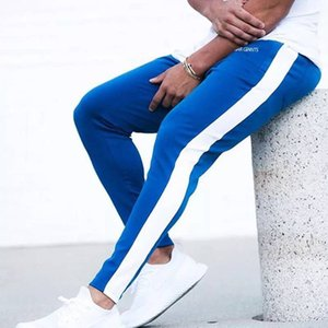 Corredores Pants Men Outono-Inverno Gym Roupa Correndo Mens Academia Esporte Leggings cintura alta Sweatpants Masculino trilha Training Pants