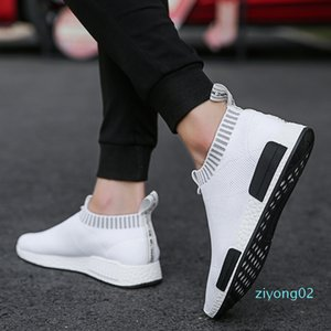 Mens Fashion Walking Sock Shoes Lightweight Air Mesh Slip-on Breathable Sneakers Casual Mesh-Comfortable Work Shoes, EVA Loafers 02z