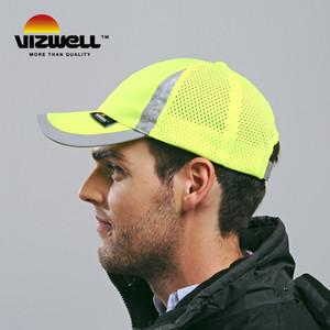 مرئية عاكسة سلامة البيسبول تهوية موقع البناء في الهواء الطلق تركيب البناء الإشراف شبكة قبعة قبعة السلامة