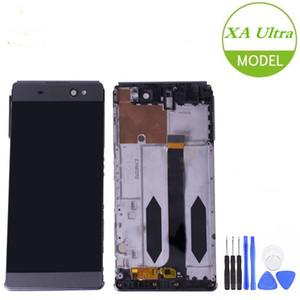 """Xperia C6 F3211 F3212 6.0"""" LCD'ler için Çerçeve Değiştirme Sony Xperia XA Ultra LCD Ekran Dokunmatik Ekran Sayısallaştırıcı Meclisi için"""