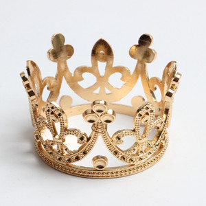 2 pcs barroco do casamento Mini flor Meninas Rhinestone Crown nupcial Tiara Headwear Hairwear Crown Cabelo tiaras Acessórios ouro