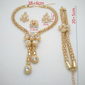 Kingdom Ma New dubai Big Choker nigerian wedding beads jewelry set Round Neckace for Women Party african costume Jewelry sets