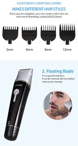 Kemei KM - 1015 5 in 1 Electric Hair Clipper Trimmer Shaver Beard best back hair trimmer KM - 1015 AC 220V Rechargeable