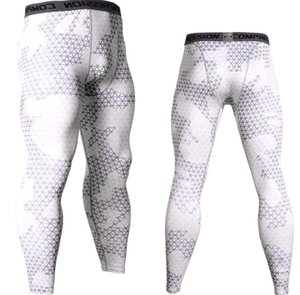 Mens Camouflage Tight trousers Running training compression Quick-drying Gym jogging Fitness pants mens tights leggings drawers Briefs