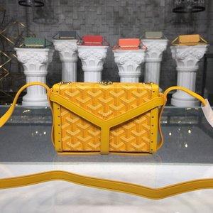 2020 العلامة التجارية الجديدة Goyarrd Goyar GY مصمم جودة عالية الكلاسيكية للجنسين مربع غويا حقيبة جلدية صغيرة حقيبة مربع حقيبة صغيرة قطري