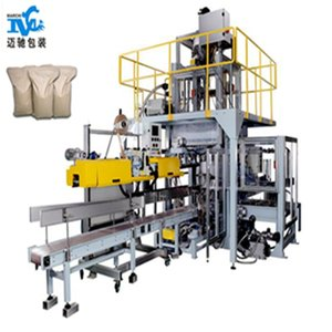 Hot Sale Fully Automatic Heavy Bag Laminated Film Plastic Bag Hot Sealing Filling Packing Machine Line for Canton Fair