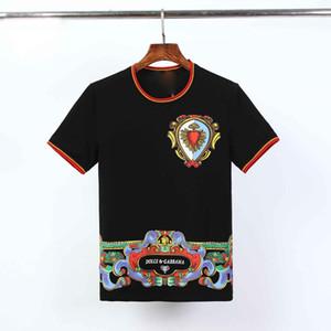 Projeto Mens Marca T-shirts Flores Moda Verão medusa patchwork zeus imprimir Slim Fit Casual Baroque o-pescoço camisa de T T superior camisetas