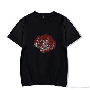 Yaz Suyu wrld RIP Tshirts Erkekler Kadınlar Rapçi hatıra Kısa kollu üstler
