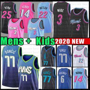 Luka Dwyane Wade 3 Basketball Jersey Jimmy Butler 77 Tyler 22 Doncic Kendrick Herro Nunn DallasMavericks MiamiChaleurPorzingis