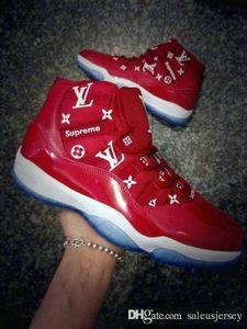 2019 yeni XI 11 sup erkekler kadınlar ve çocuklar basketbol ayakkabı yüksek kalite 11 s kırmızı Rahat Ayakkabılar Nefes gençlikler büyük boy büyük kızlar Eğitmen Spor