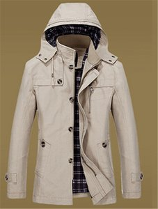 Mens Fashion Casual Coat Printemps et Automnes Hommes Veste Casual Longueur moyenne pur coton Veste Mens Apparel