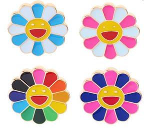 Takı Rozet Broş Unisex 7 Renk Ayçiçeği Yaka iğneler Çanta Pin Badge Broş Pin Giyim Kot Aksesuarlar