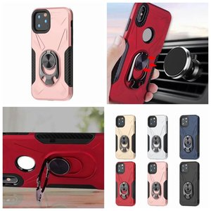 Shockproof Car Holder Case For Galaxy S10 Note10 A10E A20E A10 A20 Hard PC+TPU Finger Ring Bracket Magnet Defender Carbon Fiber Hybrid Cover