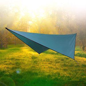 Outdoor Sun Shelter Camping Hammock Flying Tent Portable Lightweight Nylon Hammocks with UV Tarp Shelter VT0163