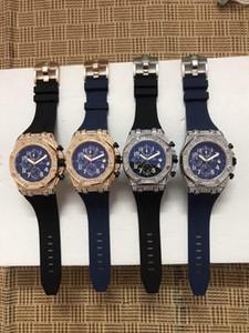 2019 new2017 Todos Subdials Trabalho Mens relógios em aço inoxidável de quartzo Relógios de pulso cronômetro relógio para homens