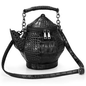 Personnalité Sac Jug 3D cha hu bao Sac à bandoulière shui hu bao Sac portable en cuir PU