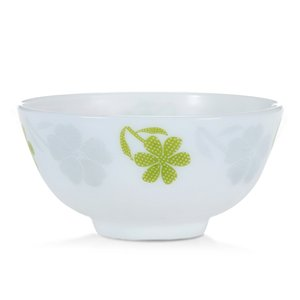 1pc 4.5 inches Opal Glass Bowl Chinbull Chinese Rice Soup Bowl Easy to Clean Free Shipping