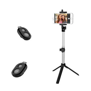 Yeshold Universal Bluetooth Remote Control Stretchable Hand-held Tripod Selfie Stick
