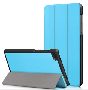 50pcs lot free shipping Luxury Smart Custer leather case for Lenovo Tab 7 Essential 7304F TAB E7 TB-7104F TB-7504F Tablet PC