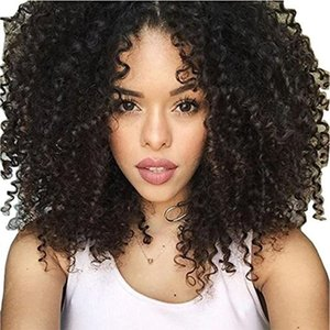 African American Wigs Afro Kinky Curly Synthetic Lace Front Wigs With Baby Hair Around Cheap Good Quality Bouncy Curly Hair Wig Wholesale