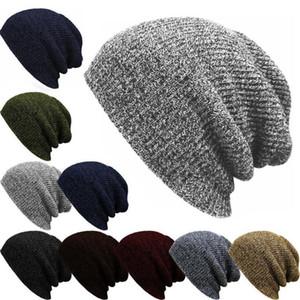 Baggy de Knit Hommes Femmes Bonnet oversize hiver chaud Chapeau de Ski Chic Crochet Slouchy Bonnet Crâne DA038