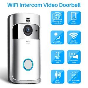 비디오 인터콤 무선 WiFi 비디오 초인종 카메라 IP 720P 양방향 오디오 적외선 나이트 비전 APP 제어를 통한 스마트 폰