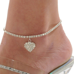 Caliente de la cadena de ventas para el tobillo del corazón de las mujeres pulsera de tobillo de la sandalia descalza de la playa atractiva del pie para un perfecto regalo Señora