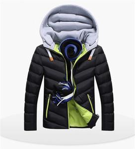 Kış Tasarımcı Aşağı Ceket Erkek Pamuk Yastıklı Giyim Gençlik Erkek Kalınlaşmış Aşağı Yaka Kış Sıcak Erkek Giyim