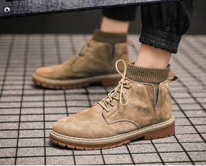Klasik tasarımcı retro tarzı bağbozumu Londra erkekler botları gündelik yüksek kayma direnci ayakkabı Martin militry lüks kış katı botlar M0390